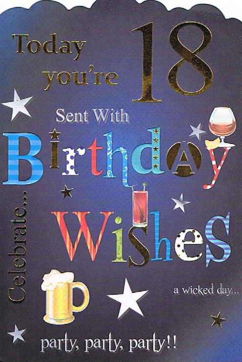 Cards Direct Uk Milestone Ages 18 100 18th Birthday 18th
