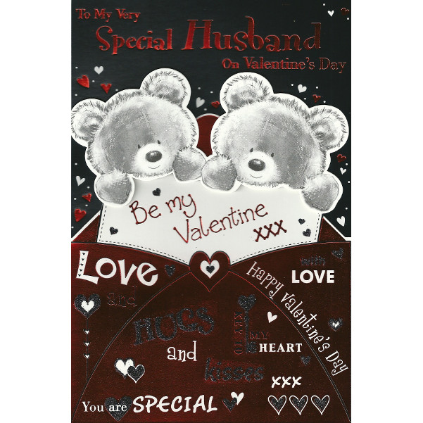 Husband Valentine's Day - Lge 3D Bears