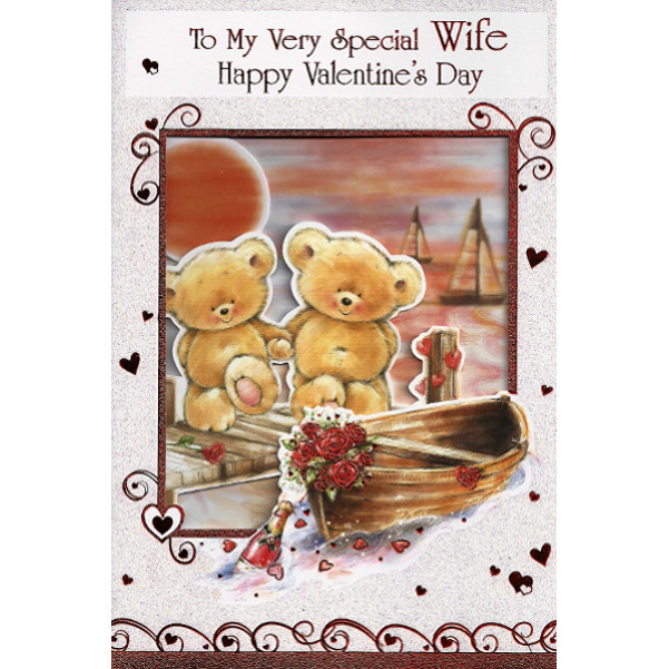 Wife Valentine's Day - Lge 2 Bears/Boat
