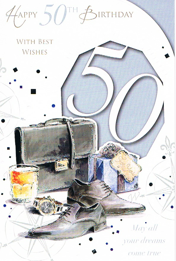 50th Birthday Large - Male Brief Case