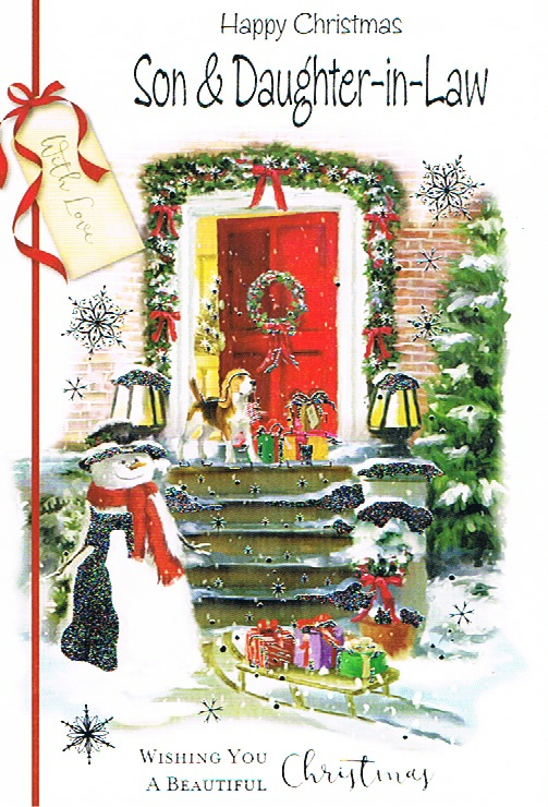 Son & Daughter-in-law Xmas - Red Door/Snowmen