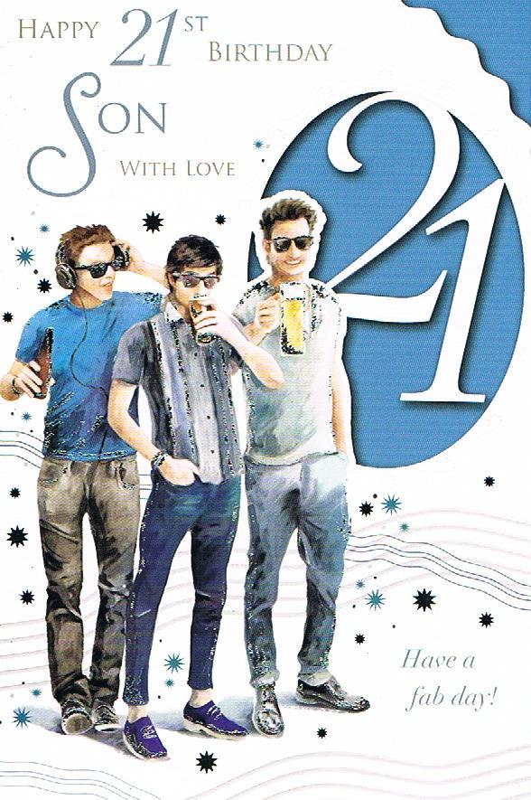 Son 21st Birthday Large - 3 Lads