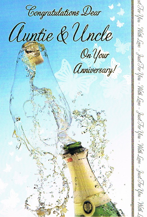 Auntie & Uncle Anniversary - Champagne