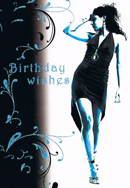 Female Birthday - Black Dress/Heels