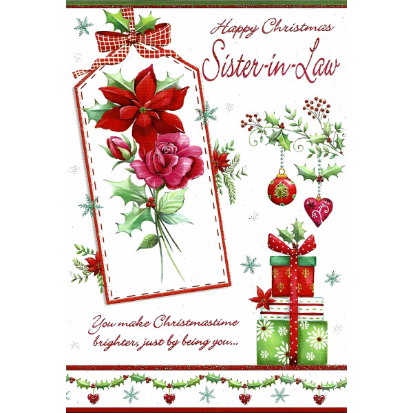 Sister-in-Law Xmas - Flower Tag