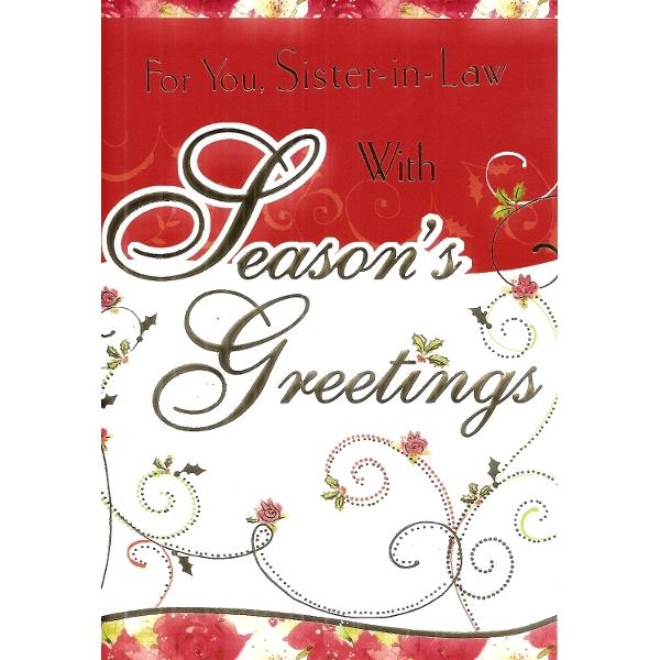 Sister-in-Law Xmas - Seasons Greetings