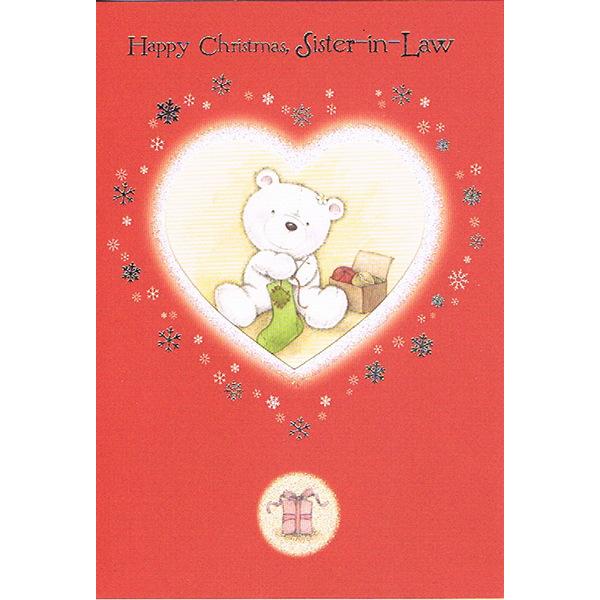 Sister-in-Law Xmas - Bear/Heart