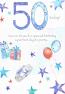 50th Birthday Large - Blue Stars
