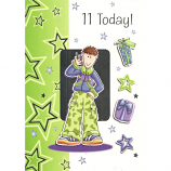 Boy Age 11 - Green Trousers