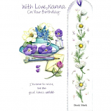 Nanna Birthday - Flowers Bookmark