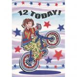 Boy Age 12 - Wheelie Bike