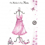 Mother's Day Mum - Lge Pink Dress