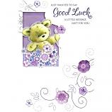 Good Luck - Bear/Flowers