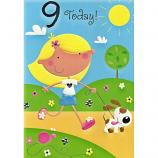 Girl Age 9 - Girl/Dog