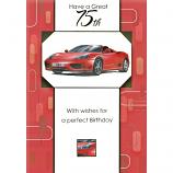 75th Birthday - M Red Car