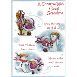 Great Grandma Xmas - Girl/Snowman