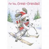 Great-Grandad Xmas - Dog Skiing