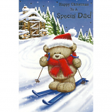 Dad Xmas - Lge Bear/Skiis