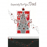 Dad Xmas - Lge Glitter Tree