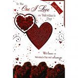 One I Love Valentine's Day - Lge Glitter Heart