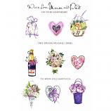 Mum & Dad Anniversary - Lge Heart/Roses