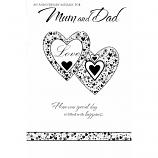 Mum & Dad Anniversary - Lge Silver Hearts