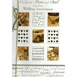 Mum & Dad Anniversary - Lge Gold Bow
