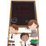 First Day At Nursery - Blackboard