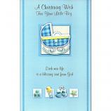Christening - M Blue Crib