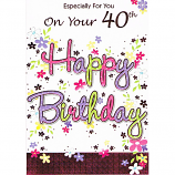 40th Birthday - F Happy Bday