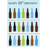 18th Birthday - M Wine Bottles