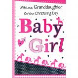 Grand Daughter Christening - Baby Girl