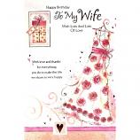 Wife Birthday - Lge Rose Dress