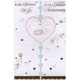 Wife Golden Anniversary - Glitter Heart
