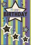 Male Birthday -Stripes