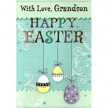 Grandson Easter - Hanging Eggs