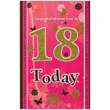 18th Birthday - F Lge Gold 18