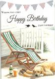 Male Birthday Deckchair /Dog