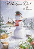 Dad Christmas Snowman