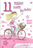 Girl age 11 Girl cycle