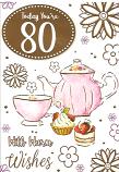 80th Birthday  F  Tea Pot