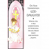 Goddaughter Confirmation - Girl Reading
