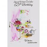 65th Birthday - Pink Curtain