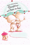Daughter & Son-in-law Anniversary - Bears/Umbrella