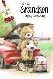 Grandson Birthday - Bear/Car Bonnet