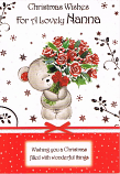 Nanna Xmas - Bear / Flowers