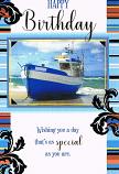 Male Birthday - Blue Boat