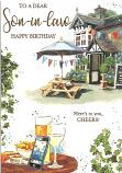 Son-in-Law Birthday Pub Scene