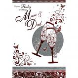 Mum & Dad Ruby Anniversary - Flutes
