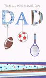 Dad Birthday Large - Tennis Racket